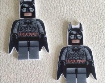 BATMAN LEGO flat backed resins x 2