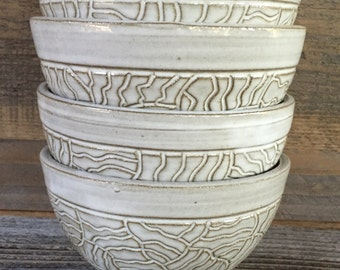 Small Carved Bowl Set