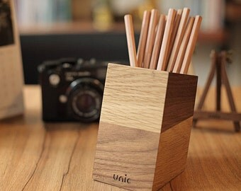 Wood Pen Holder / Cup