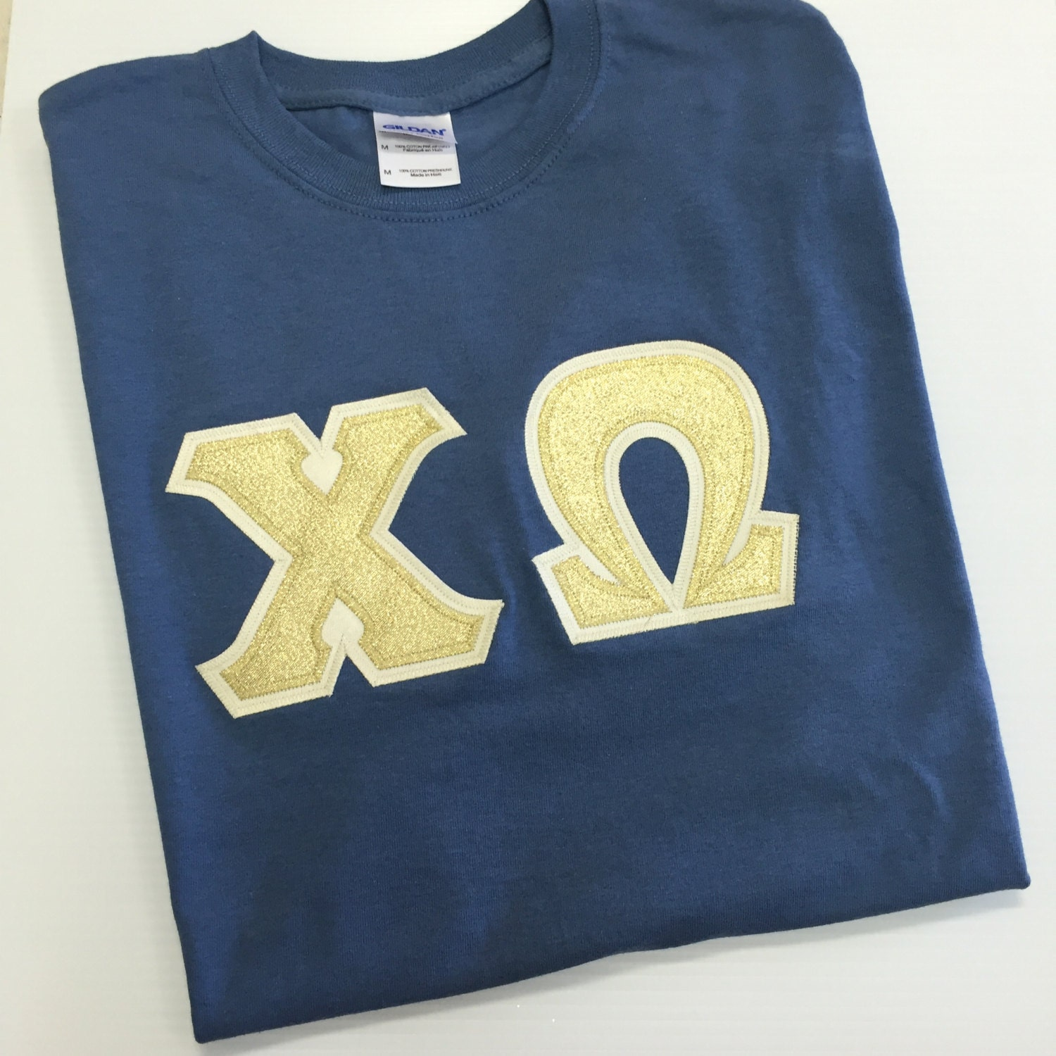 Sorority greek letter shirt navy gildan for Custom greek letter t shirts