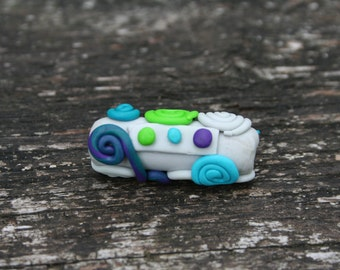 Unique Handmade polymer clay Dreadlock bead (ethnique, Boho, hippie, tribal, gypsy...)