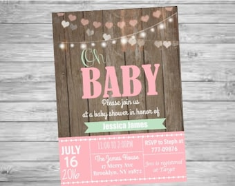 Oh Baby! Baby Shower Printable Invitation