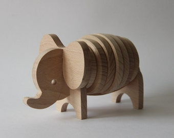 """Woden toy puzzle """"Elephant"""" ,children toy, eco friendly toy"""
