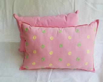 Pink Polk-a-dot Pillow