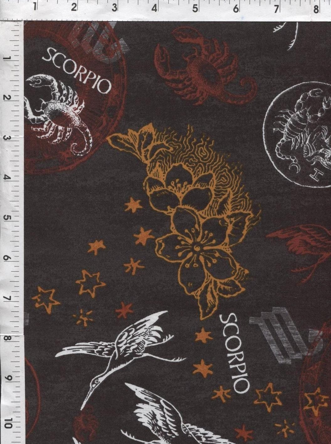 Horoscope astrology fabric fabri quilt horoscope new for Astrology fabric