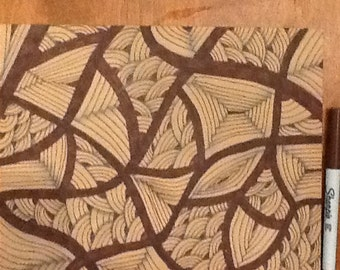Brown Zentangle inspired art