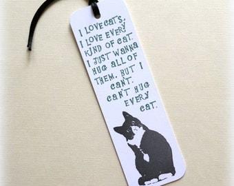 I love cats bookmark