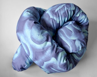 BLUE WARPING CUSHION / Limited Edition / Original Print Design