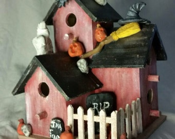 Lighted Wooden Haunted House