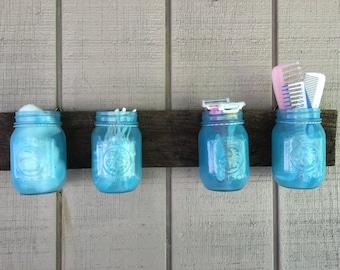 Air Brushed Bathroom Mason Jars