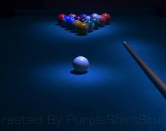 Billiards Photo w/ 2 FREE Bonus photos
