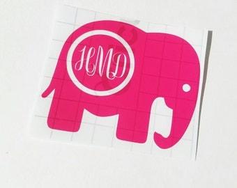 Elephant Car Decal Etsy - Elephant monogram car decal
