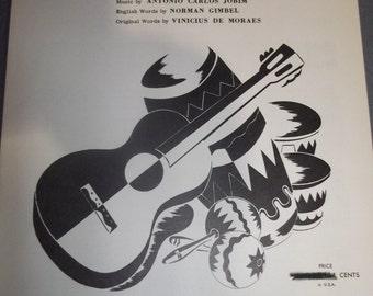 The Girl From Ipanema Vintage Piano Sheet Music Antonio Carlos Jobim, Norman Gimbel, Vinicius De Moraes