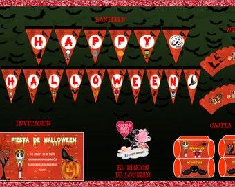 mini kit printable and editable halloween