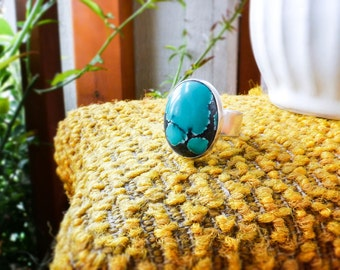 Blue Turquoise In Sterling Silver