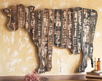 Wood Cow Wall Art Customized
