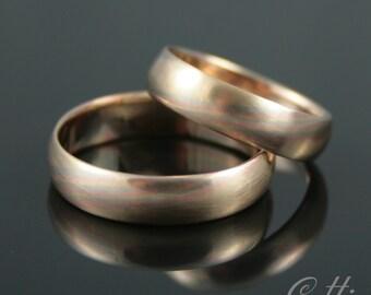mokume tri color gold bands