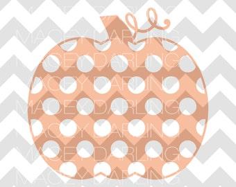 Polka Dot Pumpkin SVG, Polka Dot Pumpkin, Fall SVG, Halloween SVG, Instant Download, svg, Pumpkin svg, Pumpkin Cut File