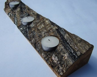 Live Edge Tea Light Holder
