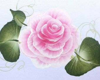 """5-Pack """"Rose"""" Greeting Card, Hand-painted, Home made Blank card, thank you card, thinking of you card, gift, birthday card, anniversary card"""