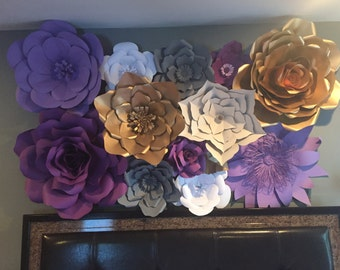 Large Paper Flower Wall/Backdrop-Customize your Order!!!