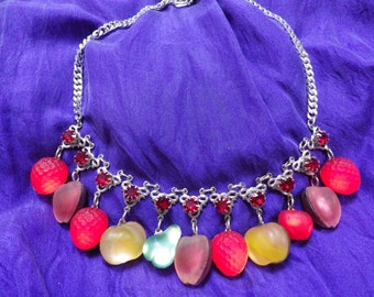 Extraordinary Glass Fruit Drops Necklace