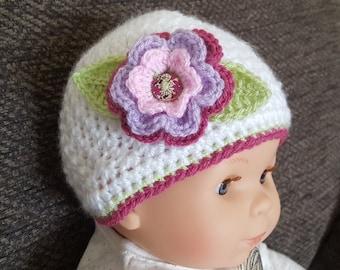 Handmade/Crochet Baby Beanie Hat