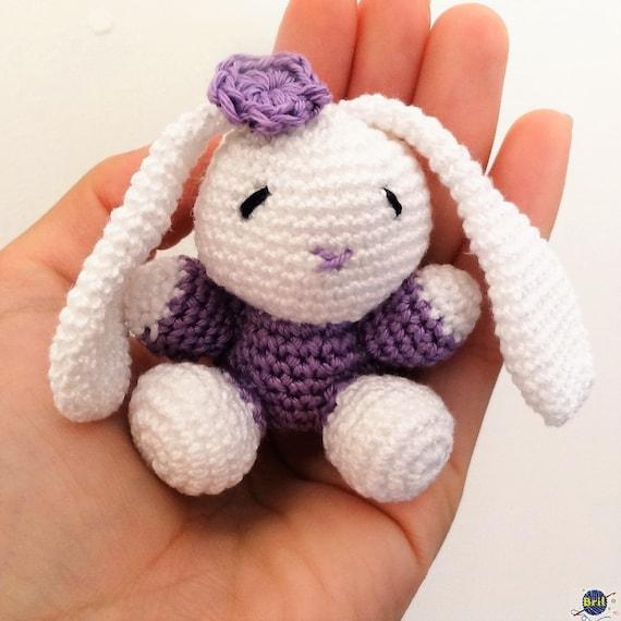 Amigurumi Bunny Keychain : Bunny Keychain Amigurumi by BrilCrochet on Etsy