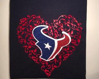 Houston Texans/NFL Heart Womens t-shirt