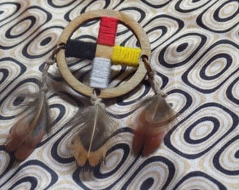 Medicine Wheel Dreamcatcher Pin
