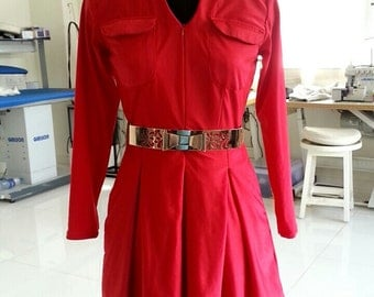 classy red chic dress