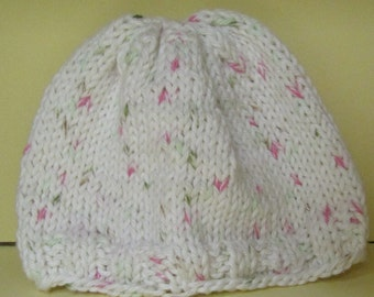 Hand crocheted baby cap