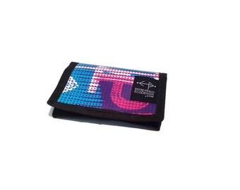 Purple pink blue unisex wallet