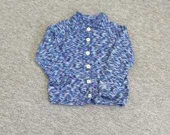 Handknitted pure wool jumper