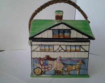 English cottage biscuit box
