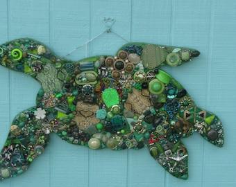 Large Green Loggerhead Turtle #1