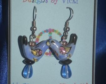 Unique pair of bird earrings.