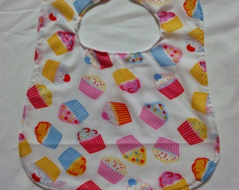 Cupcake bib with jersey backing
