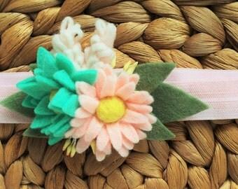 Floral Bouquet Heandband - Blushing Blooms