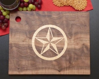 Limited Edition Serving/Cutting Board with Texas Star Inlay