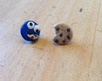 Cookie Monster and Cookie Earrings