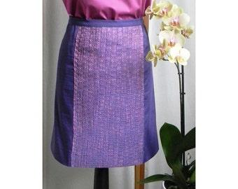 Violet Skirt, Purple Skirt, Handmade Skirt, Elegant Skirt, Summer Skirt, Cotton Skirt, Cocktail Skirt
