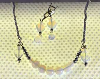 Necklace and earrings Moonlit Night