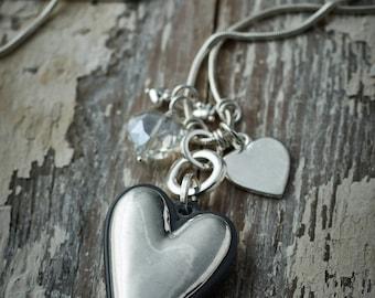 Belle Love Multi-Heart Necklace