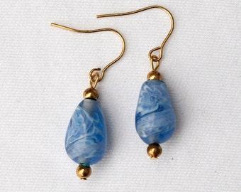 Earrings with Handmade Glass Beads