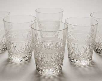 Set of Edwardian Glass Tumblers, Circa 1910