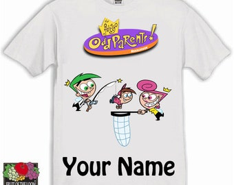 Fairly Odd Parents Personalised Kids Tshirt Ages 1-13 Available