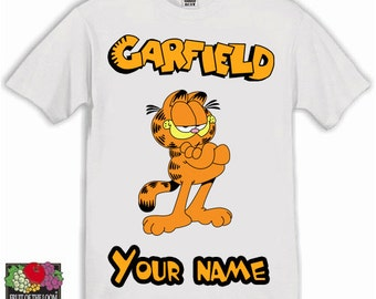 Garfield Personalised Kids Tshirt Ages 1-13 Available