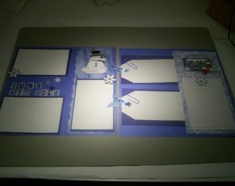 12x12 BuRRR It's Cold Outside Pre Made Page Kit