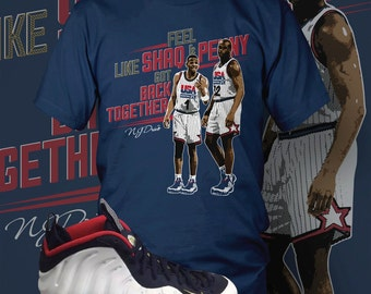 "Foamposite One Olympic Blue ""Shaq & Penny"" T-Shirt : USA Olympic Gear 